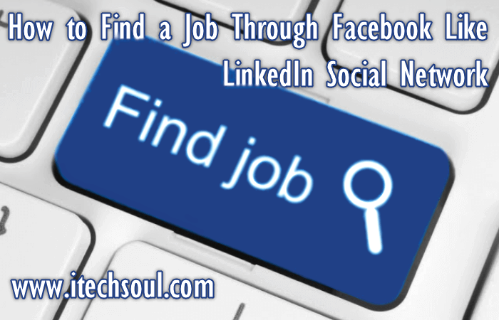How to find a job through Facebook