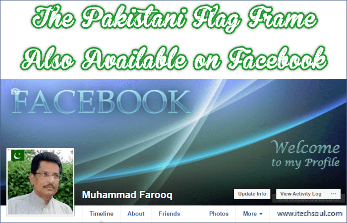Pakistani Flag Frame on Facebook