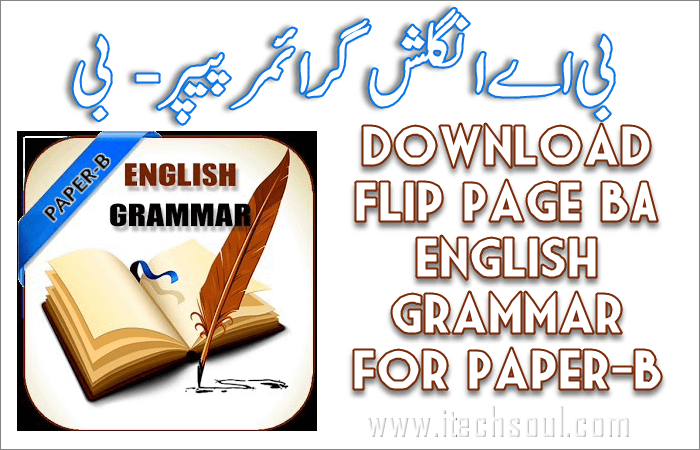 English Grammar for Paper- B