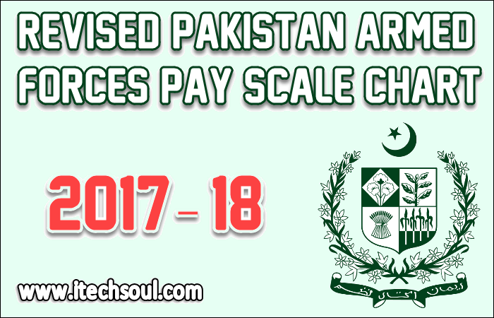 Revised Pakistan Armed Forces Pay Scale Chart 2017 • Itechsoul