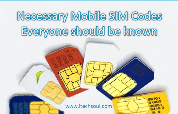 Necessary Mobile SIM Codes