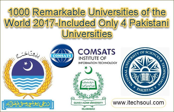 1000 Remarkable Universities of the World 2017-Included Only 4 Pakistani Universities