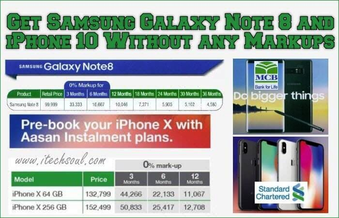Samsung Galaxy Note 8  iPhone 10 installment plan