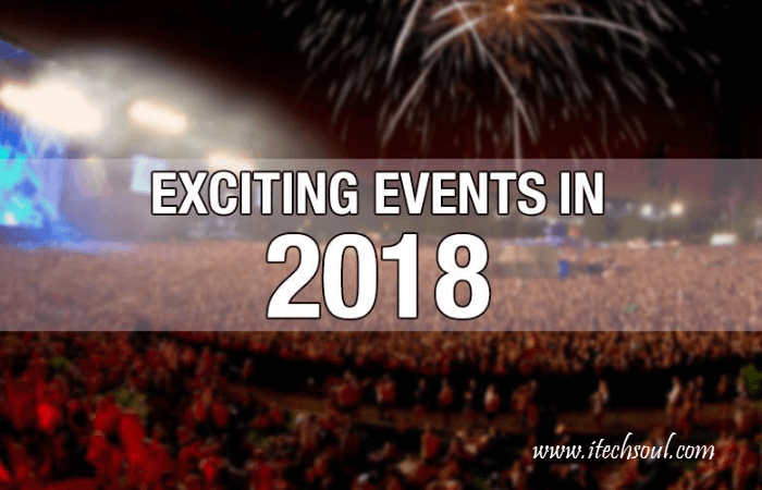 5 EVENTS IN 2018