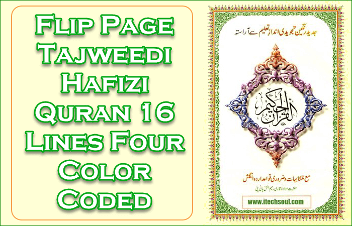 Tajweedi Hafizi Quran 16 Lines Four Color Coded