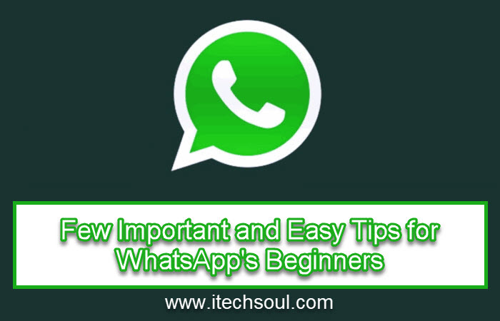 Tips for WhatsApp's Beginners