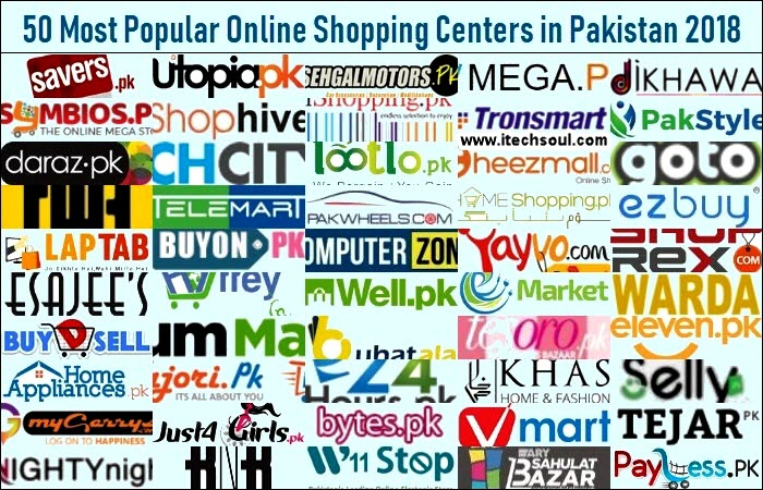 50 Most Popular Online Shopping Centers in Pakistan 2018