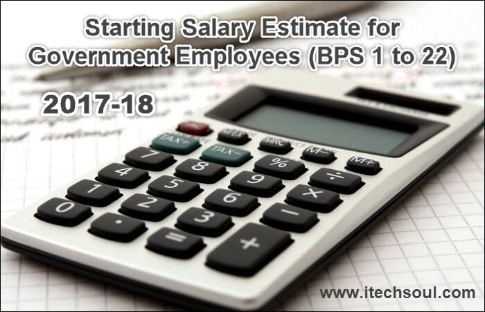 Salary Estimate Chart 2017-18