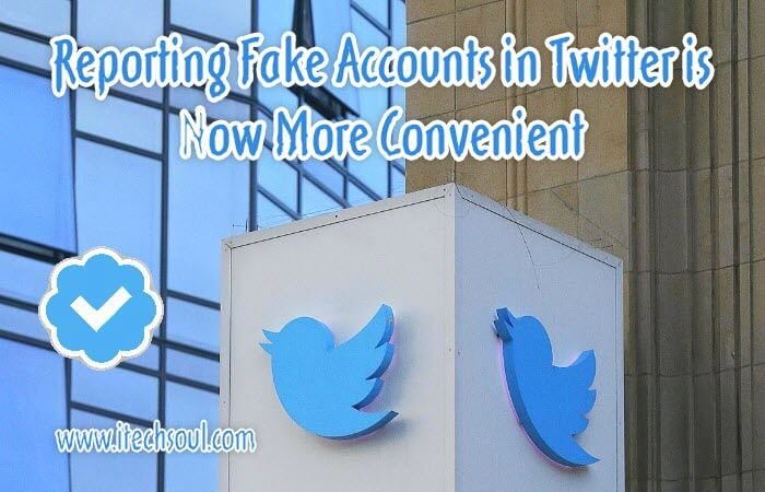 Reporting Fake Accounts in Twitter is Now More Convenient