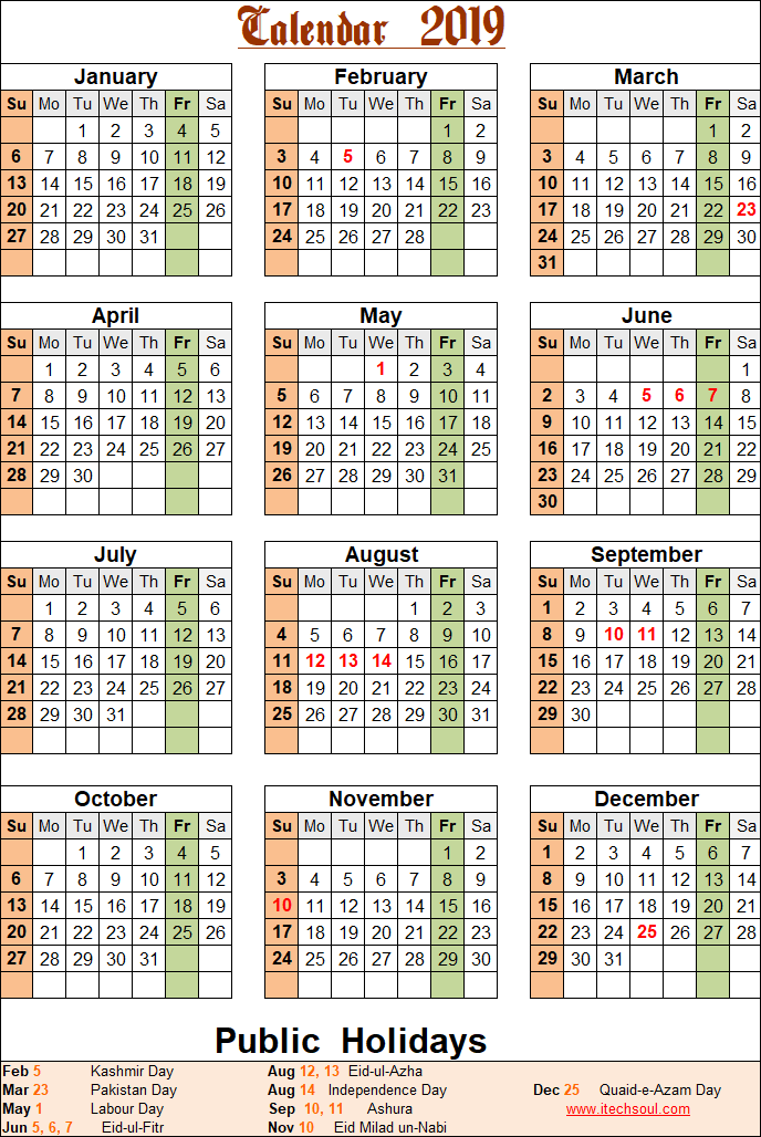 colorized    black  u0026 white printable calendar 2019 including public holidays