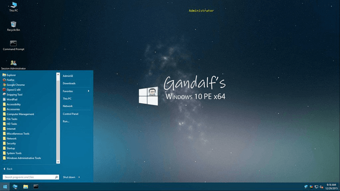 Gandalf's Windows 10 PE x64