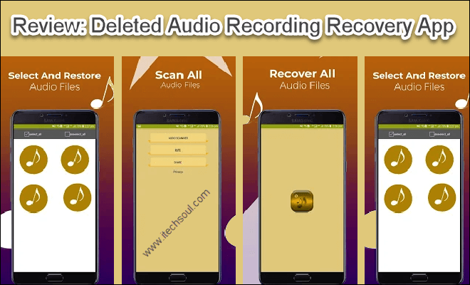 Deleted Audio Recording Recovery App