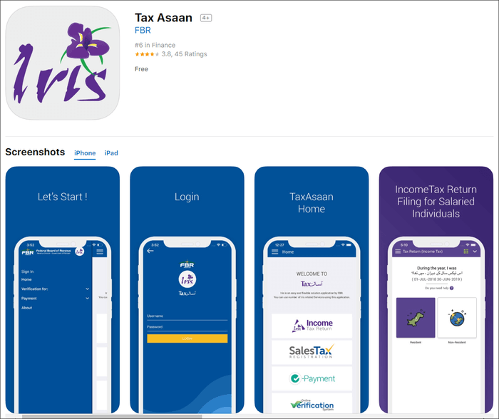 tax assan for iphone_ipad