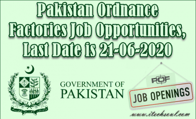 Pakistan Ordnance Factories Job Opportunities (2)